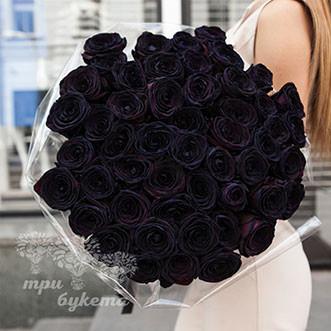Букет из 51 черной розы